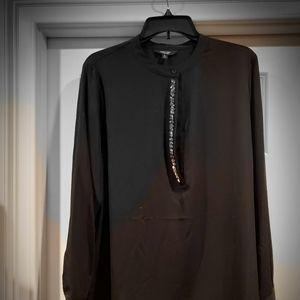 Black Vera Wang long sleeve shirt